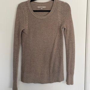 LOFT Diamond Stitch Cable Knit Sweater